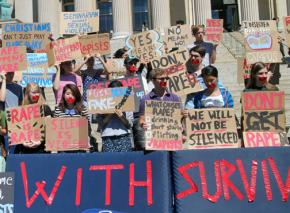 Columbia students protest against sexual assault on campus