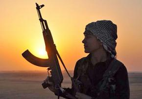 A Kurdish fighter in Kobanê