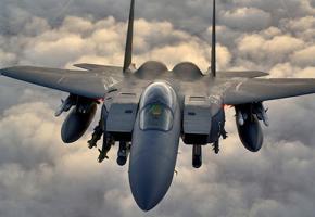 A U.S. warplane flying over northern Iraq