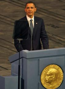 Barack Obama receives the Nobel Peace Prize