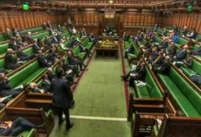 The British parliament in session