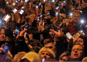 Thousands protest a plan to tax Internet usage in Hungary