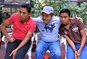 Voices from Ayotzinapa, from left: José Solano Ramírez, Clemente Rodríguez and Andres Catalan