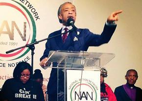 Rev. Al Sharpton speaks at a National Action Network event
