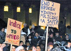 "Protesters against Eric Garner's murder call out ""Broken Windows"" policing"