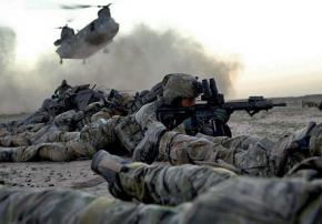 U.S. Army Rangers from the 75th Ranger Regiment in Ghazni Province in Afghanistan
