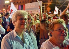SYRIZA supporters rally before the national elections