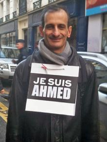"""One of the marchers at the Paris """"unity"""" rally makes a statement"""