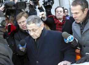 Former New York Assembly Speaker Sheldon Silver leaves the courthouse