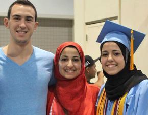 From left to right: Deah Shaddy Barakat, Yusor Abu-Salha and Razan Abu-Salha