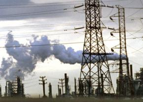 A factory in New Jersey pumps out pollution