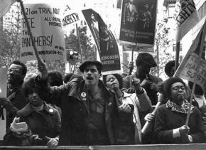 A 1971 rally for Black Panther Party members on trial in New York City