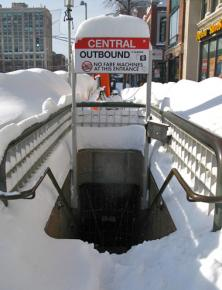 A subway station in Cambridge