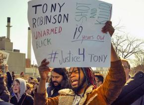 Protesters in Madison demand justice for police murder victim Tony Robinson