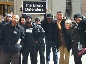 Members of the Bronx Defenders organizing team