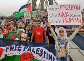 Students for Justice in Palestine on the march in New York City