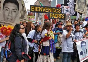 The Ayotzinapa caravan in New York City