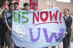 Fighting for a $15 an hour minimum wage at the University of Washington