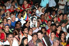 Rally for Venezuelan president Nicholas Maduro along with Evo Morales and Daniel Ortega