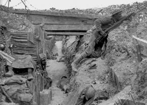 Soldiers in the trenches during the First World War's Battle of the Somme