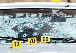 The car riddled with 137 bullets fired by Cleveland police