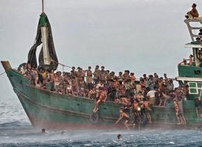 A boat filled with Rohingya migrants found adrift without a crew