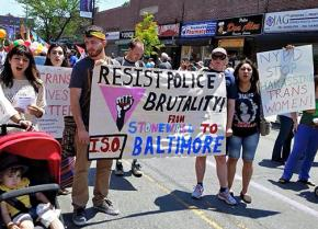 Speaking out against police violence at Queens Pride