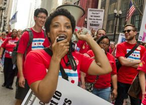 Chicago teachers and their supporters rally for a fair contract and a just Chicago