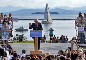 Bernie Sanders launches his 2016 campaign in Burlington's lakefront park