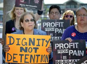 Protesting for-profit prisons and detention centers