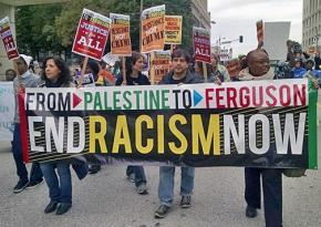 Marching for Black and Palestinian solidarity against racism