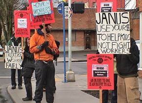 Picketing at the Janus Youth Programs called by the Industrial Workers of the World in 2011