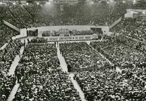 A 1931 Communist Party rally in New York City's Madison Square Garden