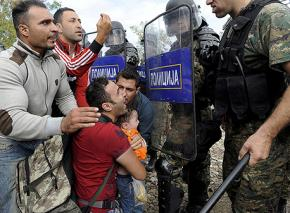Refugees from Syria and elsewhere confront brutality on the Macedonian border