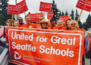 Seattle teachers rally support in their fight for quality public education