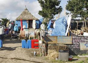 """The Jungle"" camp at Calais"