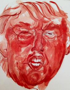 Sarah Levy's portrait of Donald Trump, titled Whatever