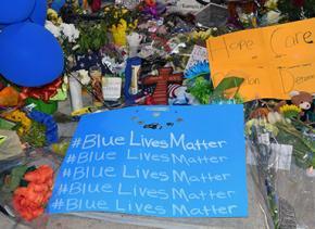 A memorial to Harris County Sheriff's Deputy Darren Goforth