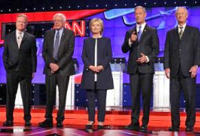 Candidates for the Democratic presidential nomination at their first debate