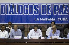 The beginning of Colombian peace talks in 2012