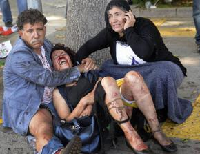 Victims of the bombing of a peace protest in Ankara