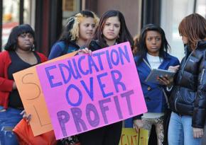 New York City students protest plans to open another charter school in the Bronx