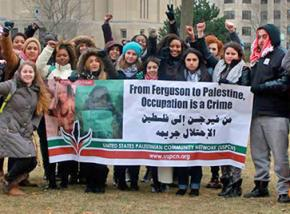 Loyola SJP leads a solidarity action on campus linking struggles from Ferguson to Palestine