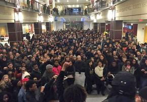 Students in Columbus occupy the Ohio Union during their protest in solidarity with students organizing at Mizzou