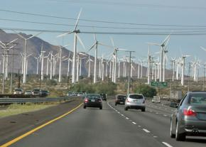On the highway to Palm Springs, California