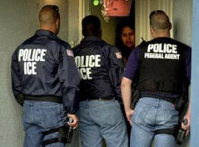 Agents of the Immigration and Customs Enforcement agency