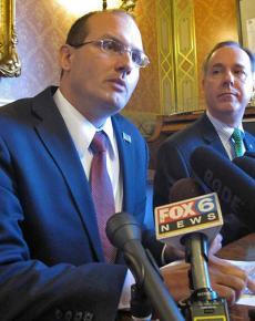 Wisconsin State Rep. Jesse Kremer (left)