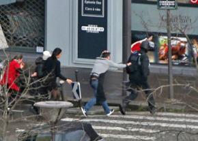 The scene of the terrorist attacks in Paris