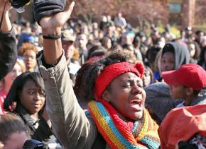 Students demand action against racist incidents on campus at University of Missouri