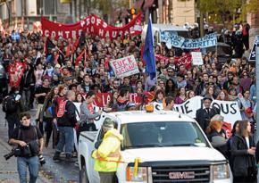 Students march against austerity in Montreal